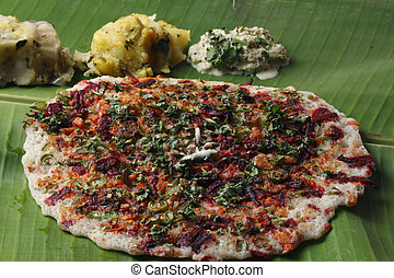 Vegetable Dosa - a pancake from South India