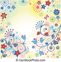 Summery colorful card