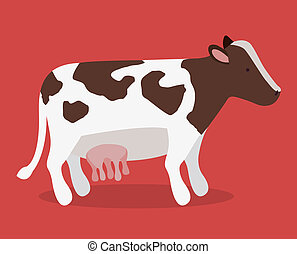 farm design over red background vector illustration