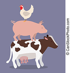 farm design over purple background vector illustration