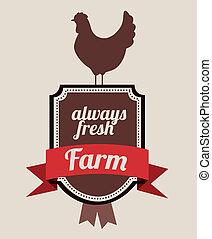 farm design over gray   background vector illustration
