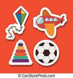 baby design over orange  background vector illustration