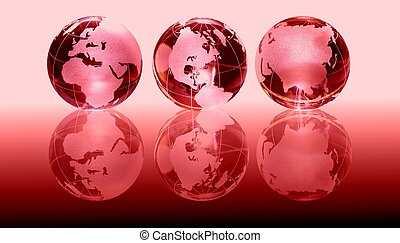 set of globes background