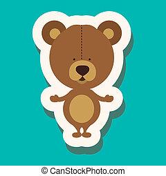 baby design over blue  background vector illustration