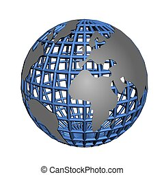 isolated net globe