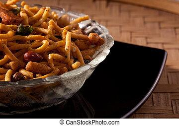 Spicy Bombay Mixture from India - Badshahi Mix - Chiwda a...