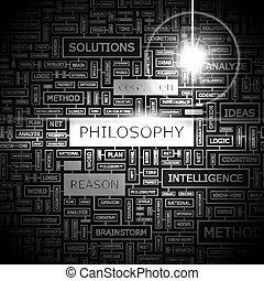 PHILOSOPHY. Word cloud concept illustration. Wordcloud...