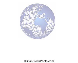 isolated net globe blue