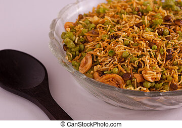 Spicy Bombay Mixture from India - Badshahi Mix - Chiwda a...