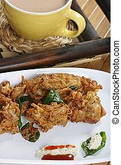 Onion fritters from Maharashtra - Kanda Bhajjia - Onion...