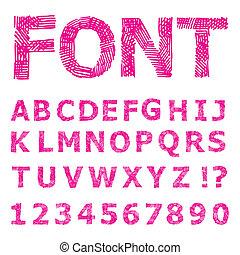 Grunge  Alphabet.