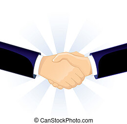 Handshake two men - Vector illustration (eps 10) of...