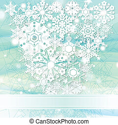 Elegant blue Christmas background