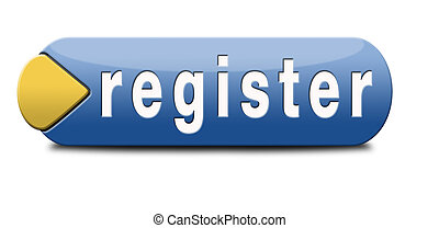 register now member registration button sign or icon