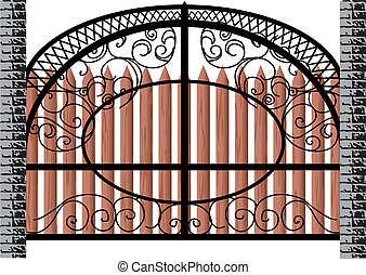 gate isolated on white background. 10 EPS