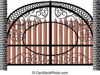 gate isolated on white background. 10 EPS