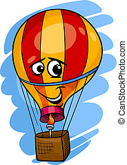 hot air balloon cartoon illustration - Cartoon Illustration...