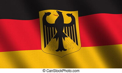 Flag of Germany, seamless loop - Flag of Germany with eagle...