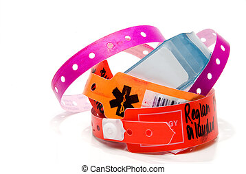Hospital ID Bracelet - A brand new hospital patient ID...