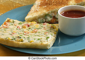Cheese grilled Toast - A grilled cheese sandwich is a...