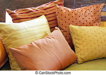 Pillows - Pile of pillows at bed