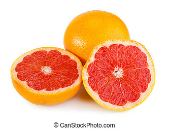 Fresh red grapefruit - Fresh and juicy grapefruit isolated...