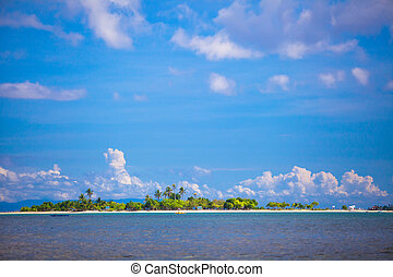Tropical perfect island background the blue sky