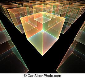 cubes - colourful fractal cubes