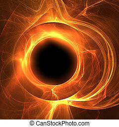 Ring of Fire - abstract fiery moon