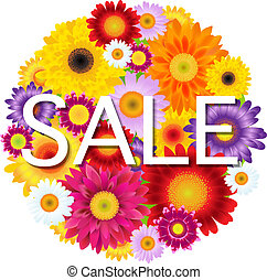 Colorful Gerbers Flowers Ball Sale, With Gradient Mesh,...