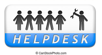 online helpdesk support desk or help desk button technical...