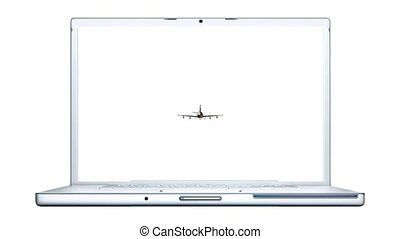 airliner  with notebook