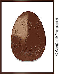 Easter chcolat egg isolated