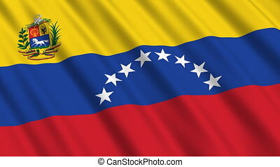 Flag of Venezuela, seamless loop - Flag of Venezuela waving...