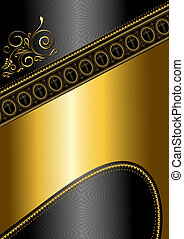 Golden pattern and border with cros