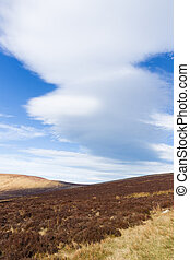 Long cloud forming in the Wicklow Mountains