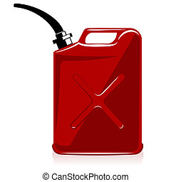 gas can - Fuel container or gas can. vector