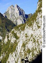 Pyrenees - peak in Valley of Aspe, Pyrenees, France