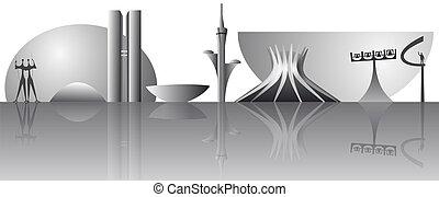 vector Brasilia city skyline