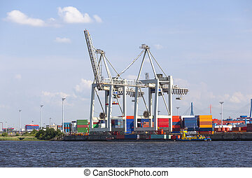 Small Container Terminal in Hamburg