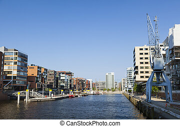 Hafencity Sandtorhafen in Hamburg - Sandtorhafen in the...