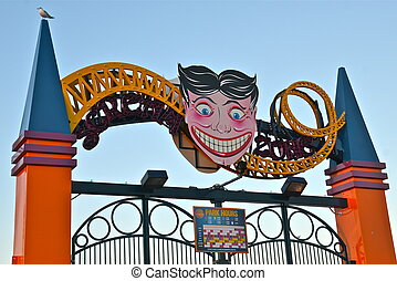 Coney Island's entrance sign, NYC. - Coney Island's entrance...