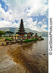 Pura Ulun Danu temple on a lake Beratan Bali