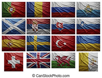 European countries from P to V