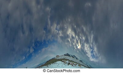 Winter Sky - High definition Time lapse of a cloudy sky shot...