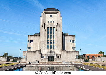 Abandoned radio Kootwijk building. Former Radio station in...