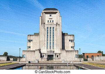Abandoned radio Kootwijk building. Former Radio station in...