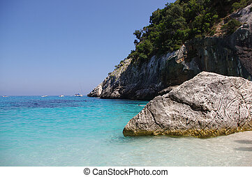 Turquoise sea - Beach Cala Goloritze in Sardinia This...