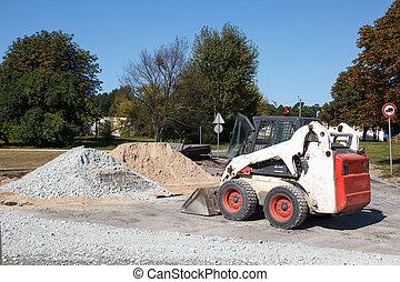 pequeño, excavador