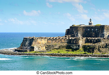 El Morro Taken from ship in San Juan harbor
